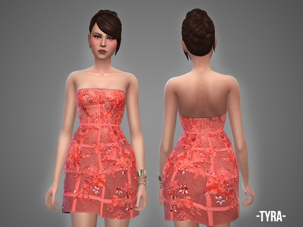 Tyra dress by April at TSR image 1218 Sims 4 Updates