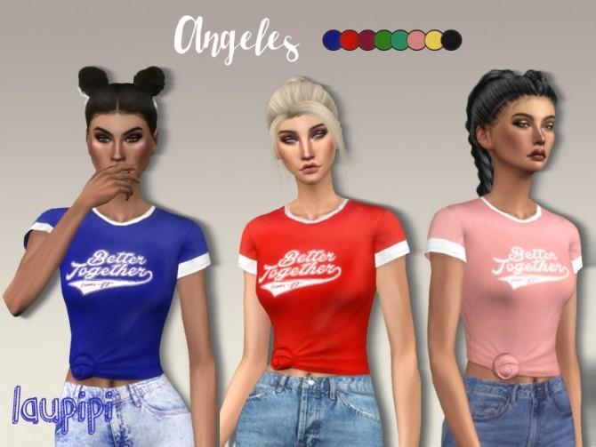 Angeles t shirt at Laupipi image 12211 670x503 Sims 4 Updates