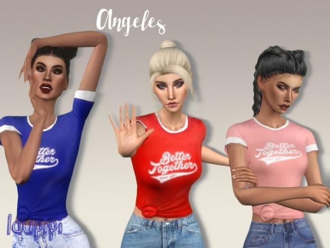 Angeles t shirt at Laupipi image 12310 670x503 Sims 4 Updates