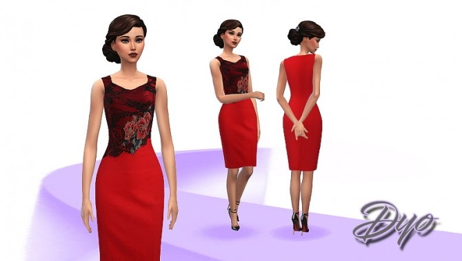 Elegance dress 8 by Dyokabb at Les Sims4 image 12411 670x379 Sims 4 Updates