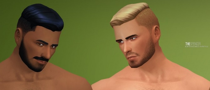Spencer shaved hair by Xld Sims at SimsWorkshop image 1252 670x288 Sims 4 Updates