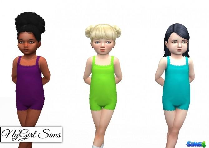 Sims 4 Lace Trim Toddler Pajama Bodysuit at NyGirl Sims