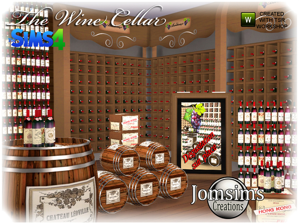 The wine cellar by  jomsims at TSR image 1280 Sims 4 Updates