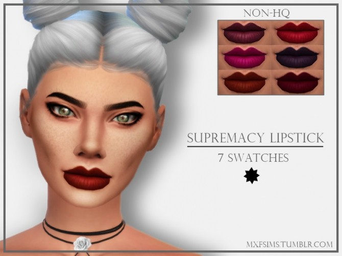 Sims 4 SUPREMACY LIPSTICK at MXFSims