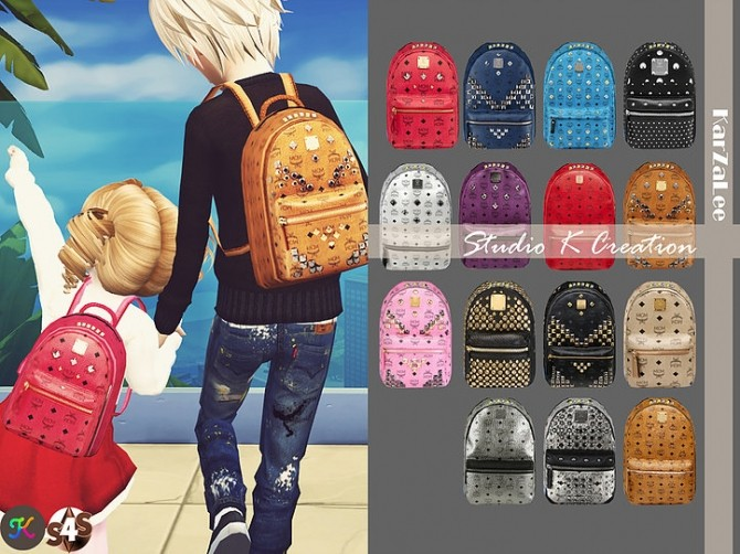 Sims 4 Backpack for kids version at Studio K Creation