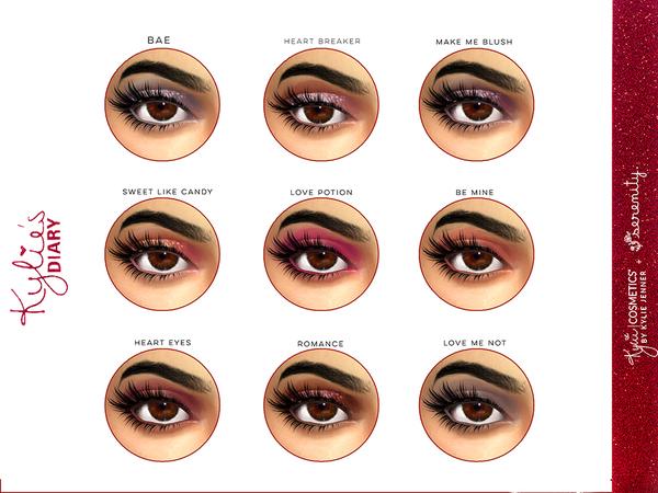 Sims 4 Diary Eyeshadows F by serenity cc at TSR