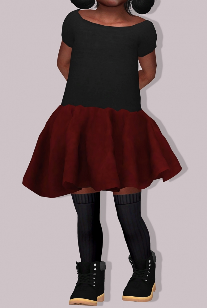 Chisami Dress For Toddlers At Lumy Sims 187 Sims 4 Updates