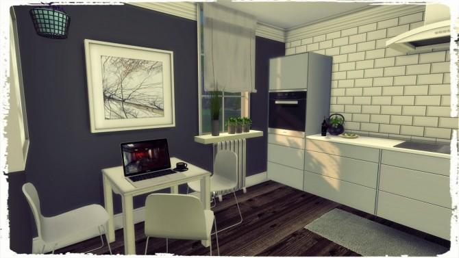 Sims 4 White Kitchen II at Dinha Gamer