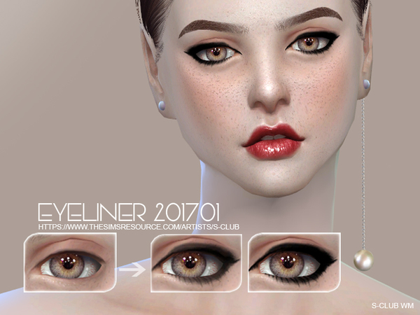 Eyeliner 201701 by S Club WM at TSR image 1350 Sims 4 Updates