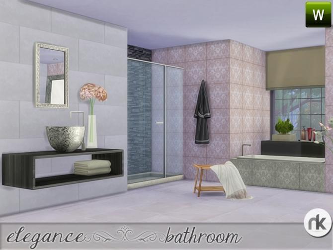 Elegance bathroom at nikadema designs sims 4 updates for Bathroom ideas sims 4