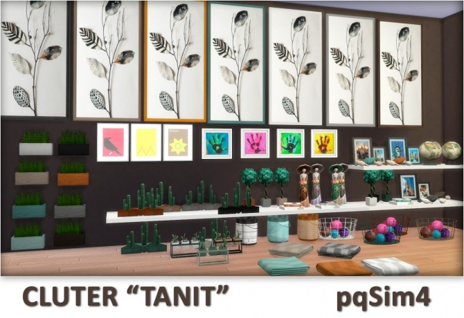 Sims 4 Tanit Clutter by Mary Jiménez at pqSims4
