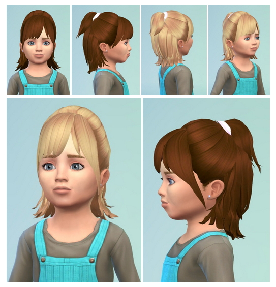 Sims 4 HalfUp Toddler Hair at Birksches Sims Blog