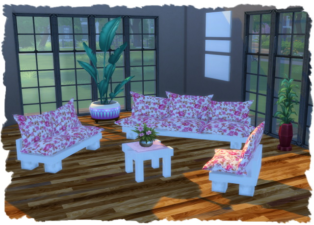 Sims 4 Angel livingroom mesh by Chalipo at All 4 Sims