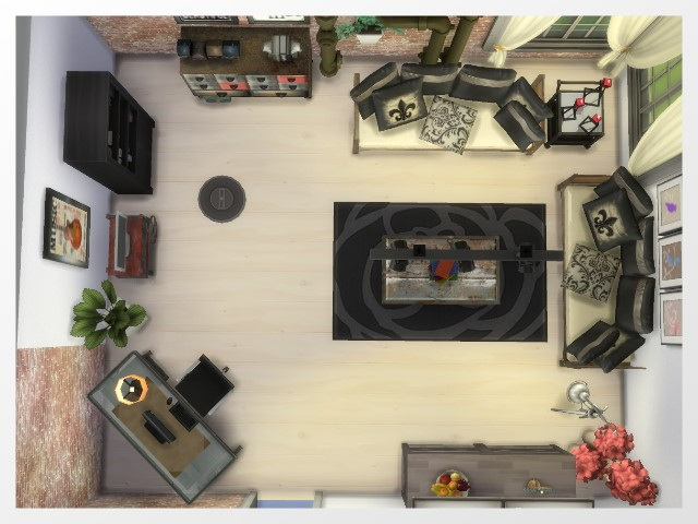 Sims 4 Living room by Oldbox at All 4 Sims