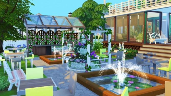 Sims 4 Comme chez mamie cafe by SundaySims at Sims Artists