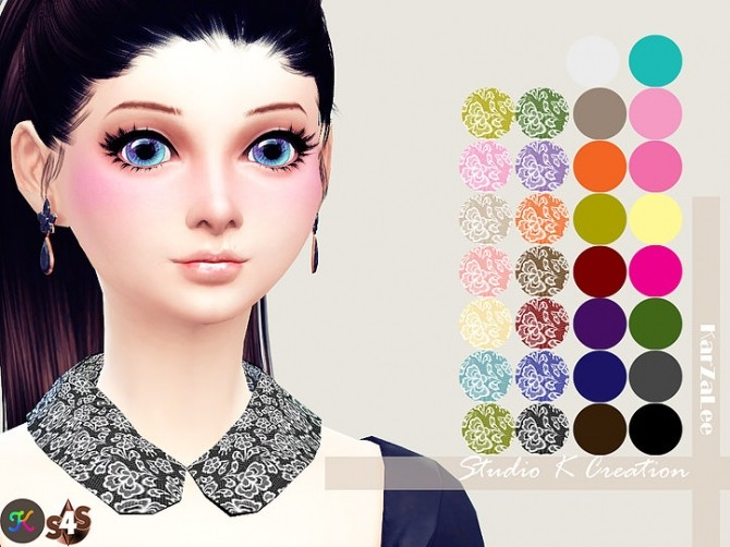 Sims 4 Collar Necklace round at Studio K Creation