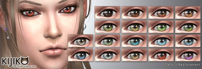 Vampires Eye Colors Default Non Default Replacement At