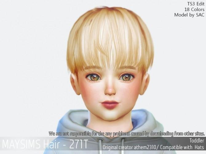 Hair 271T (athem 2310) at May Sims image 14610 670x503 Sims 4 Updates