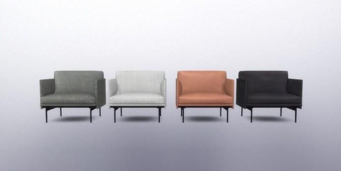 Sims 4 Outline Chair (Pay) at Meinkatz Creations