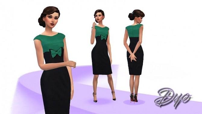 Sims 4 Elegance dress 5 by Dyokabb at Les Sims4