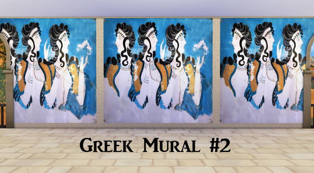 Ancient greece murals at historical sims life sims 4 updates for Ancient greek mural