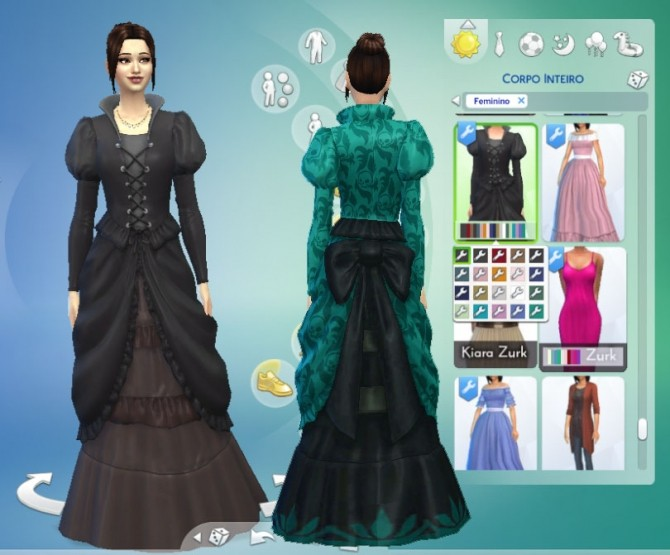 Sims 4 Bow Dress Conversion at My Stuff