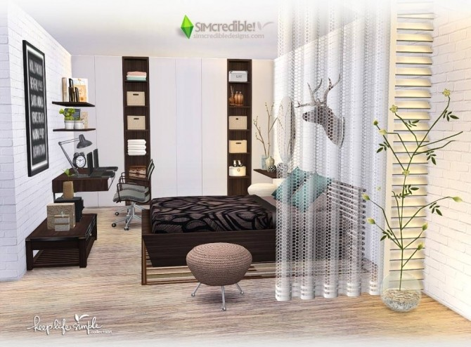 Simple Bedroom Updates keep life simple bedroom at simcredible! designs 4 » sims 4 updates