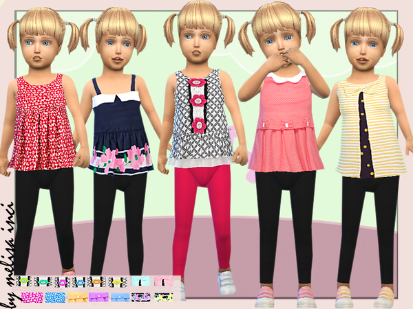 Toddler Peplum Floral Top by melisa inci at TSR image 1530 Sims 4 Updates