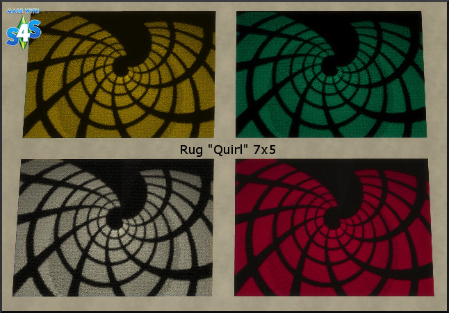 Sims 4 Quirl rug recolors by Christine1000 at Sims Marktplatz