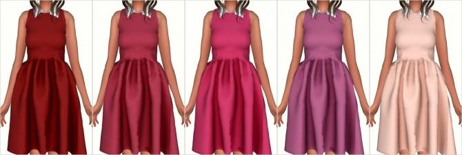 Sims 4 Collar Sweet Dress Original by Jin at Elliesimple
