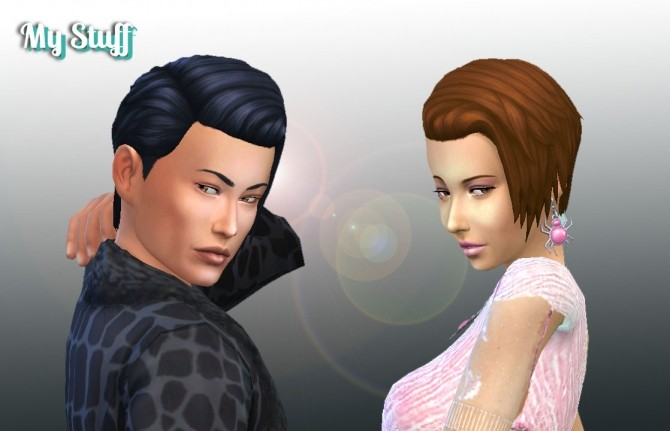 Sims 4 Brushed Hairstyle Conversion at My Stuff