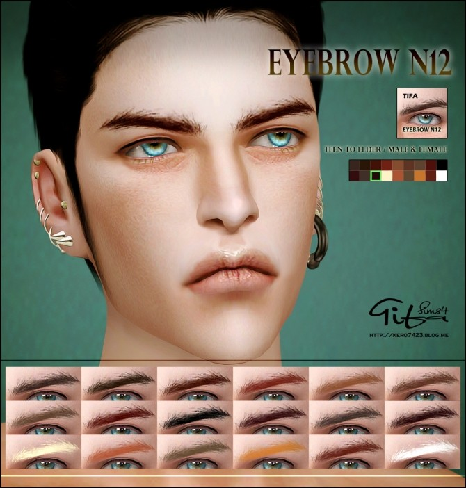 Eyebrows N12 M/F at Tifa Sims image  Sims 4 Updates