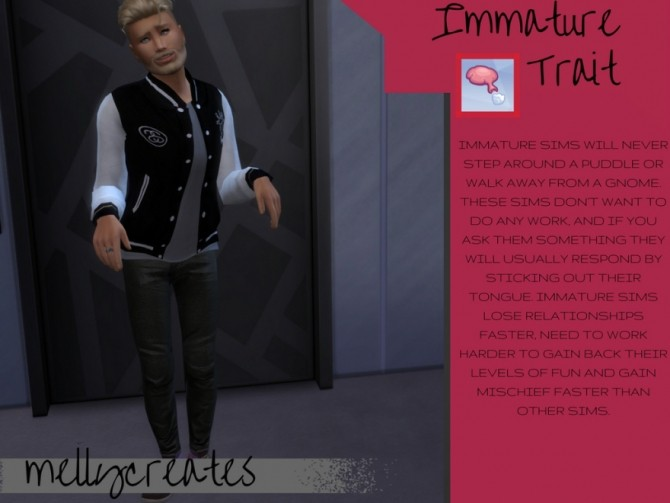 Sims 4 Immature trait at MellyCreates