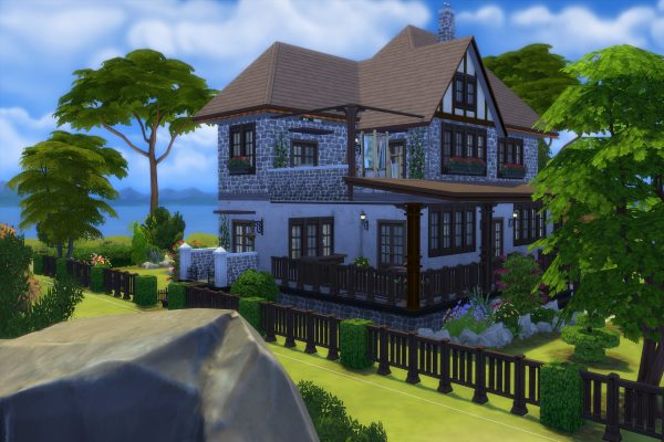 Sims 4 Meerblick house by Dschungelkatze at Blacky's Sims Zoo