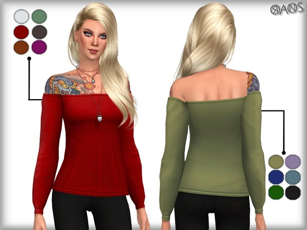 Off Shoulder Top by OranosTR at TSR image 16 Sims 4 Updates