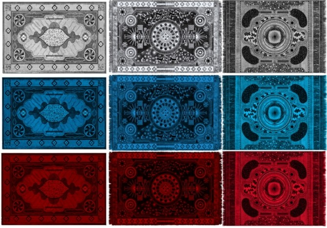 Gothic rugs by ihelen at ihelensims image 1601 670x466 Sims 4 Updates