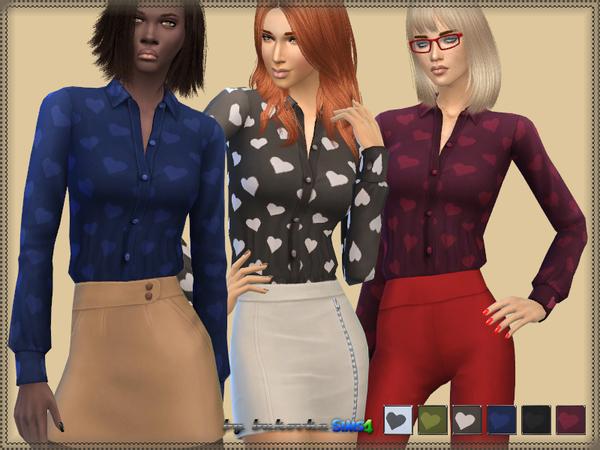 Heart Shirt by bukovka at TSR image 1615 Sims 4 Updates