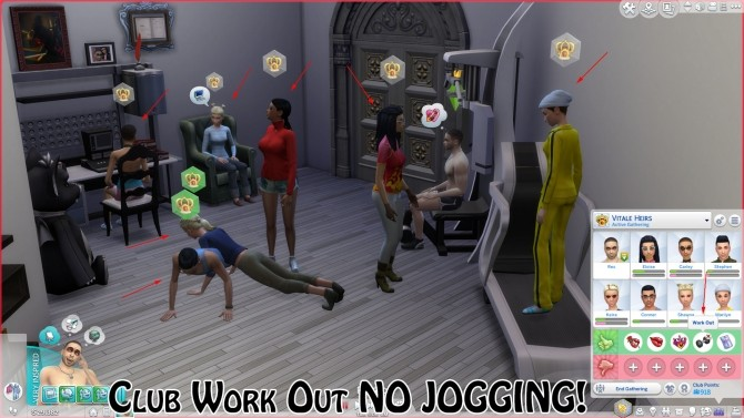 Sims 4 Club Work Out No Jogging by Eurynome at Mod The Sims