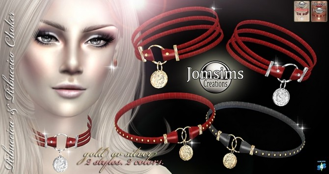 Sims 4 Ribuccica and Ribuccico choker set at Jomsims Creations