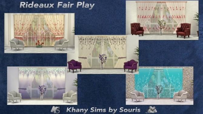 Sims 4 FAIR PLAY curtains by Souris at Khany Sims