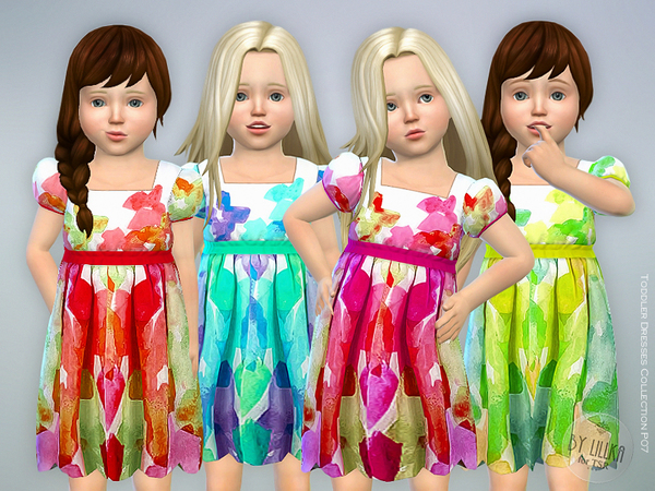 Sims 4 Toddler Dresses Collection P07 by lillka at TSR