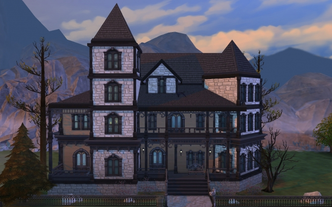 Gothic Victorian House By Polarbearsims At Mod The Sims