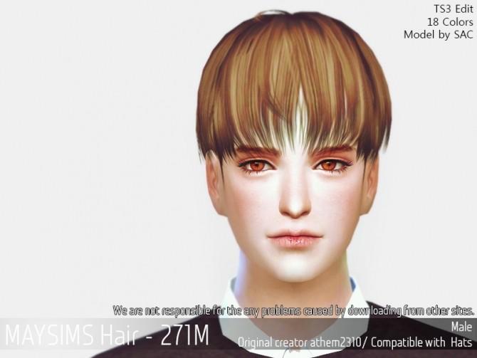 Hair 271M (athem2310) at May Sims image 1643 670x503 Sims 4 Updates