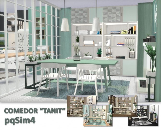 Tanit Dining Room by Mary Jiménez at pqSims4 image 1662 670x542 Sims 4 Updates