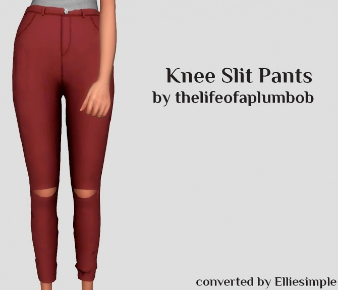 Knee Slit Pants at Elliesimple image 17115 670x574 Sims 4 Updates