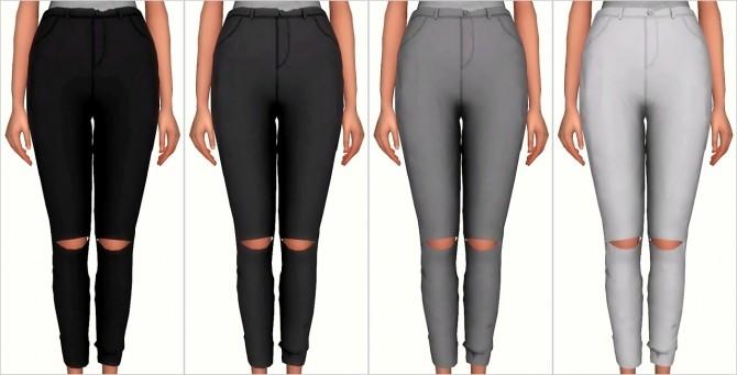 Knee Slit Pants at Elliesimple image 17211 670x341 Sims 4 Updates