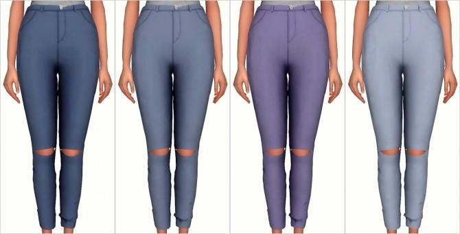 Knee Slit Pants at Elliesimple image 17310 670x341 Sims 4 Updates