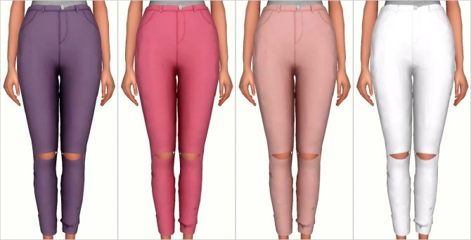 Knee Slit Pants at Elliesimple image 1749 670x341 Sims 4 Updates