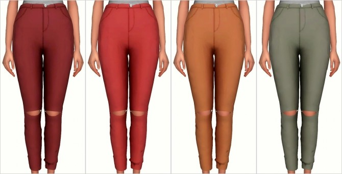 Knee Slit Pants at Elliesimple image 1758 670x341 Sims 4 Updates