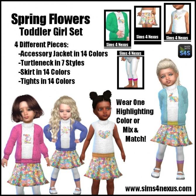 Sims 4 Spring Flowers Toddler Set at Sims 4 Nexus